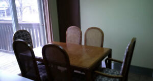 Table with 6 Chairs and Buffet and Hutch Combination