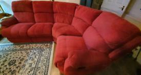 Corner sofa 2 recliners FREE