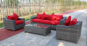 NEW SUNLOUNGER® 4 PCS OUTDOOR FURNITURE SET PATIO FURNITURE