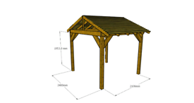 Wooden Gazebo - Hot Tub Shelter, Garden Outdoor canopy FREE DELIVERY