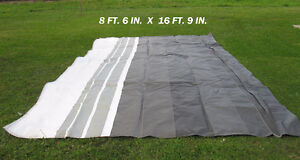 3 USED AWNING TARPS  DIFFERENT SIZE !  3 TOILES...