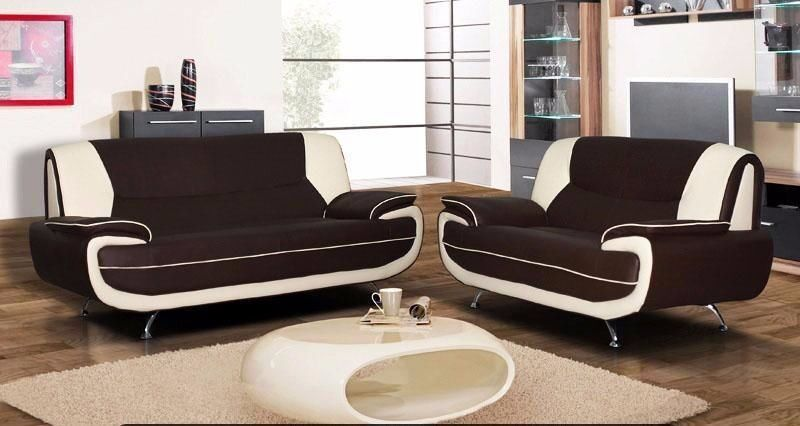 CAROL SOFA !!! 3 AND 2 SEATER SOFA PU LEATHER SOFA IN BLACK BROWN WHITE AND CREAM