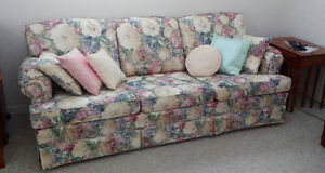 Three seater couch and armchair, in excellent condition
