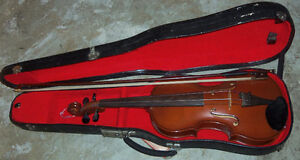 Various musical instruments: violin, harmonica