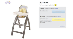 Summer Infant Bentwood High Chair - Chevron Leaf