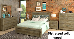 SOLID ACACIA WOOD QUEEN SIZE BEDROOM SET $1599