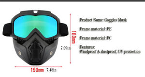 Safety Goggles Face Mask Windproof Dustproof UV-protection Eyewe