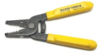 Klein Tools Wire Stripper Cutter Electrician Tool No. 11045 Made In Usa Used