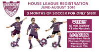 U7-U17 Soccer House League / 3 mnths / Perfect for all abilities