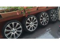 4 x BMW Alloy Wheels and Tyres 18 Inch Series 3 / 5