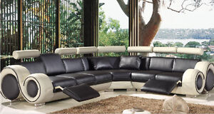 BRAND NEW CONDO SIZED GENUINE LEATHER SECTIONALS FOR SALE