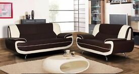 **wow **U.K DELIVERY 3 +2 SEATER SOFA AVAILABLE IN RED AND BLACK OR WHITE & BLACK