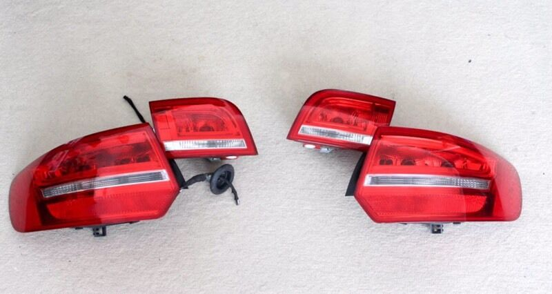 Audi A3 8p Sportback Genuine LED Rear Lights With Wiring Loom Connectors Facelift Upgrade