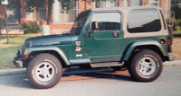 Looking for this specific 1999 Green Jeep TJ Sahara in Barrie