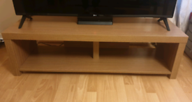 Tv stand oak effect.
