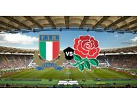 ENGLAND V ITALY 6 NATIONS RUGBY
