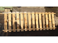 Heavy Duty Fence panel Slatted Wooden Racking Shelving Decking Garden Boundaries Many Other Uses