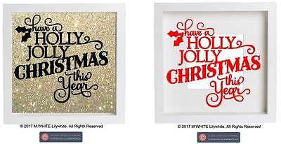 Have a Holly Jolly Christmas this Year vinyl sticker for IKEA RIBBA BOX