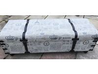 Upholstered trunk shaped blanket box on legs, `120 x 41 x 42 cm, French Chic Material
