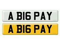 Personalised registration Private number plate BIG PAY