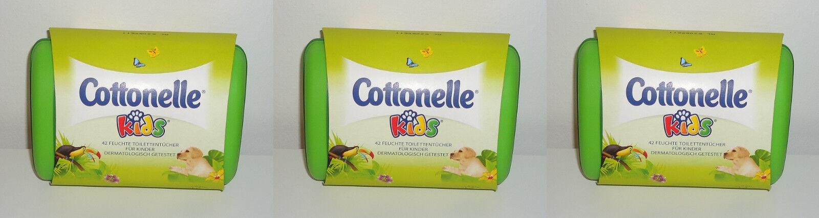 (Preis pro Tuch 0,09€) 3x Cottonelle kids 42 feuchte Toilettentücher