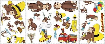 24 New CURIOUS GEORGE WALL DECALS Monkey Stickers Monkeys Bedroom Decorations
