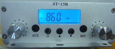 15w 86mhz-108mhz Pll Fm Transmitter St-15b Stereo Fm Broadcast Radio Station