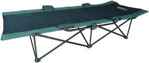 HEAVY DUTY STRONGMAN FOLDING CAMPING COT -- IDEAL FOR FAMILY TRAVEL AND AIRPORT EMERGENCIES