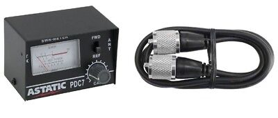 ASTATIC PDC7 SWR CB RADIO TEST METER WITH 3' JUMPER CABLE