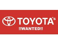 WANTED! .. YOUR OLD TOYOTA !