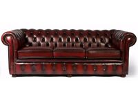 3+2 Chesterfield Sofa // All sizes in stock // oxblood red // stain black // dark brown