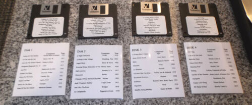 40 Midi Songs  for Floppy Disk player pianos set 1 to 4 From Vintage Paper Rolls