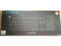Logitech G610 Orion Red Backlit Mechanical Keyboard(Cherry MX Red:Low-Noise,Tactile Bump),New&Sealed