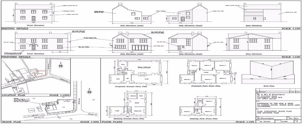 Planning Drawings And Building Regulations Plans For House