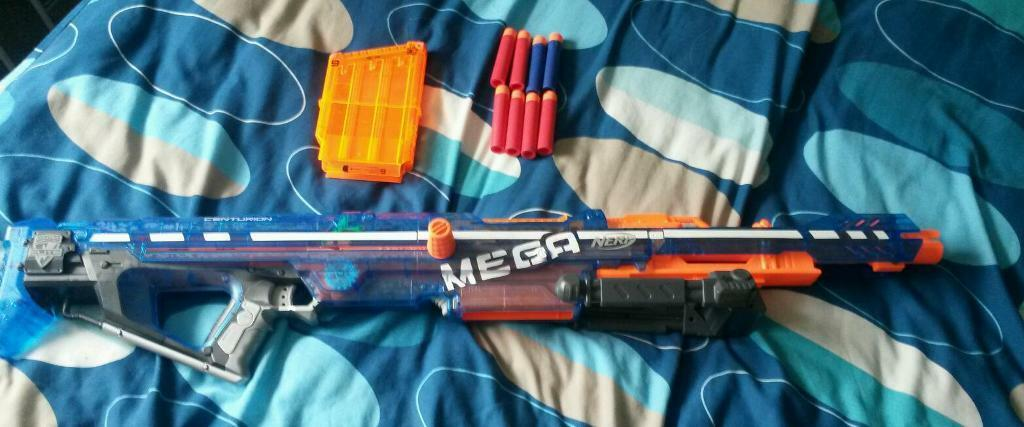 Mega Nerf Gun With Bullets 163 15 In Huntington North