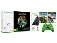 Xbox One S 1TB Console Sea of Thieves Bundle with Forza Horizon 3/Minecraft Wireless Controller