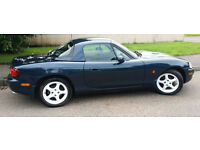 MAZDA MK2 MX5 1.8 WITH M.O.T, HARD TOP & SOFT TOP