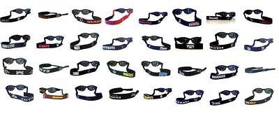 NFL SUNGLASS STRAP NEOPRENE CROAKIE PICK YOUR TEAM (Your Logo On Sunglasses)