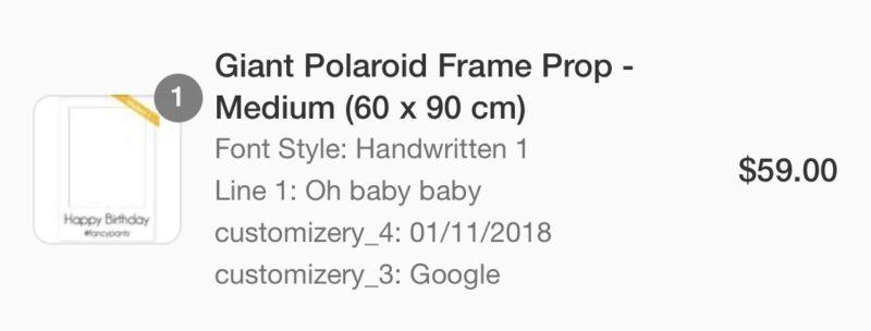 Baby shower prop photo frame | Other Baby & Children | Gumtree ...