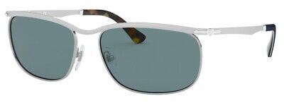 Persol Sunglasses model PO2458S 518P1 62mm Silver w/ Grey/Green Glass (Persol Models)