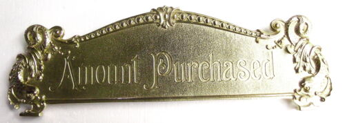 """13 1/8"""" c-c Amount Purchased cash register top sign topper 300 class and others"""
