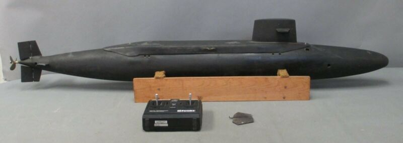 """56"""" Fiberglass US Style Submarine Model/RC (Compatible) with Base & Remote"""