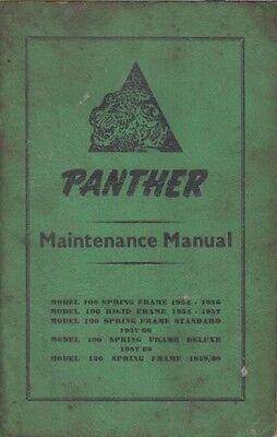PANTHER MODEL 100 (1954-60) & 120 (1959-60) ORIGINAL OWNERS MAINTENANCE MANUAL