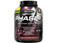 MuscleTech Phase 8 1.9KG Protein Powder Strawberry (New Sealed)
