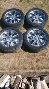 22 in. Set of 4 Rims and Tires