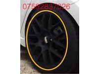 Alloy wheel protectors Focus Fiesta KA ST RS Corsa Astra Sri Vxr Polo Golf GTI Beetle VW Leon Civic