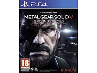 Metal gear solid V ground zeroes like new