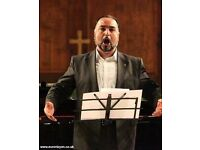Singing lesson from the experienced operatic tenor