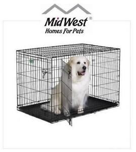 """NEW* MIDWEST XL ICRATE DOG CRATE 1548DD 213168632 48""""L X 30""""W X 33""""H DOUBLE DOOR PET CAGE KENNEL"""