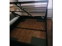 Double brown leather ottoman bed frame (DELIVERY AVAILABLE)